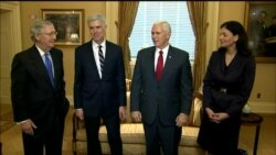 Pence, McConnell Meet with Neil Gorsuch