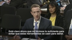 """Zuckerberg en el Congreso: """"Fue mi error y lo siento"""""""