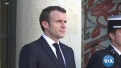 Perezida w'Ubufaransa Macron mu Mubonano na Chanceliyeri w'Ubudagi