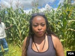 Diana Samkange-Nyazema, an award-winning Zimbabwean singer, is seen at her farm in Mazowe district, about an hour's drive west of Harare, March 18, 2021. (Columbus Mavhunga/VOA)