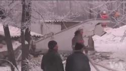飞机坠毁救援现场