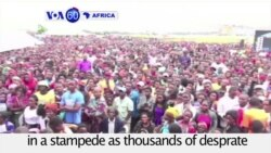 VOA60 Africa - Zambia: At least eight people were killed in a stampede
