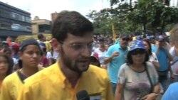 Oposición protesta en Venezuela