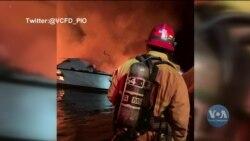 Пожежа на судні біля узбережжя острова Санта-Крус: кілька людей загинули. Відео