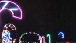 Hiljade sijalica u parku svjetla - dio božićnog duha i za mlade i stare
