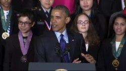 오바마, 백악관에 과학영재들 초청