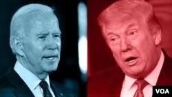 Vice President Joe Biden President Donald Trump