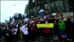 2016-01-10 美國之音視頻新聞: 科隆抗議 難民潮給德國社會帶來負面影響