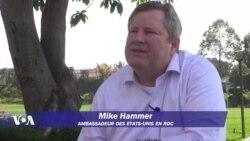 Ntoma ya Amerika Mike Hammer alobeli lisungi lya USA mpo na kimya na monyele ya RDC