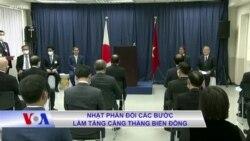 Nhật phản đối các bước làm tăng căng thẳng Biển Đông