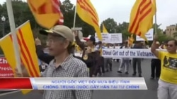 Truyền hình VOA 24/8/19: Người gốc Việt đội mưa biểu tình chống TQ gây hấn tại Tư Chính