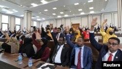 Abadepite bo muri Somaliya ni bo batoye bemeza ko manda yongerezwa imyaka ibiri tariki ya 12 y'ukwa kane 2021.
