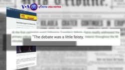 "VOA60 Elections - Kaine admits that he was ""a little feisty"" during Tuesday's vice presidential debate"
