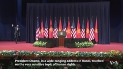 Obama Delivers Speech in Hanoi