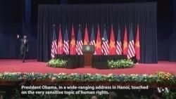 Obama Delivers Speech in Hanoi