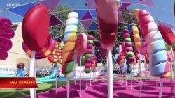 Công viên bánh kẹo đầy màu sắc ở California thu hút khách