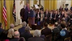 Президент Дональд Трамп оприлюднив Близькосхідний мирний план. Відео