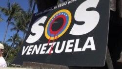 Inmigrantes venezolanos apoyan manifestaciones en Estados Unidos