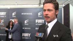 Fury หนังใหม่ของแบรด พิตต์ ฉายรอบปฐมทัศน์ที่กรุงวอชิงตัน