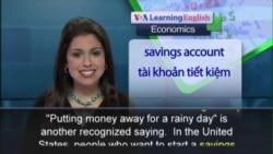 Anh ngữ đặc biệt: Savings (VOA-Econ)