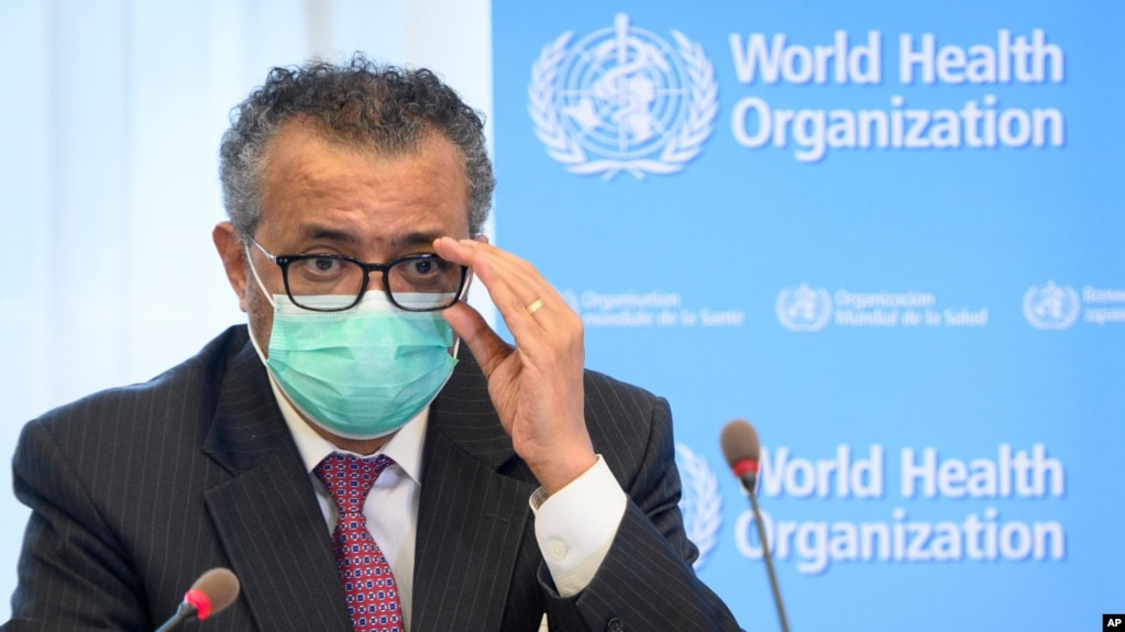 Tổng giám đốcTổ chức Y tế Thế giới (WHO) Tedros Adhanom Ghebreyesus.