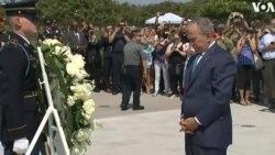 ԱՄՆ-ի նախկին նախագահ Բուշ կրտսերը Պենտագոնի հուշահամալիրում ծաղկեպսակ է դրել ի հիշատակ ահաբեկչության զոհերի