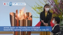 VOA60 World - The torch relay for the postponed Tokyo Olympics began its 121-day journey across Japan