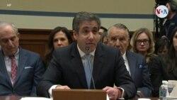 """Cohen testifica en el Congreso: """"No soy un mentiroso"""""""