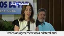 VOA60 World PM - Colombia: The government and FARC rebels reach an agreement on a bilateral and permanent ceasefire