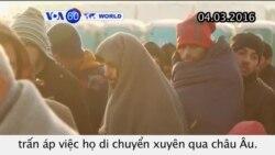 Di dân vẫn bị mắc kẹt ở biên giới Hy Lạp-Macedonia (VOA60)