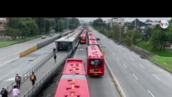Transporte en Bogotá, Colombia, se ha congestionado debido al paro