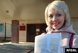 Russian journalist and Radio Free Europe/Radio Liberty contributor Lyudmila Savitskaya is seen in an undated photo.