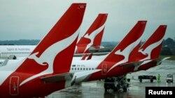 Pesawat milik maskapai penerbangan Australia, Qantas di Bandara Internasional Melbourne, Australia, 6 November 2018. (Foto: dok).