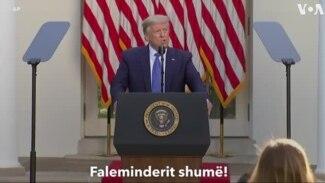 Fjalimi i Presidentit Trump për protestat
