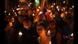 马里兰居民烛光守夜悼念枪击案死难者