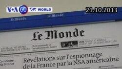 Báo Le Monde nói Mỹ do thám công dân Pháp (VOA60)