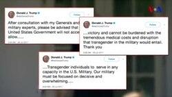 """Donald Tramp:""""Artıq trans-seksuallar ABŞ ordusunun heç bir bölməsində qulluq edə bilməz"""""""