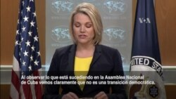 """Dep. de Estado: Sucesión en Cuba """"no es una transición democrática"""""""