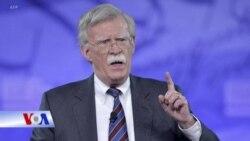 Tổng thống Trump sa thải cố vấn an ninh quốc gia John Bolton.