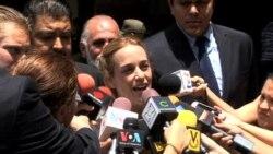 Lilian Tintori exige libertad de su esposo