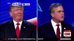 VOA60 America - Republican presidential candidates traded barbs in the fifth debate