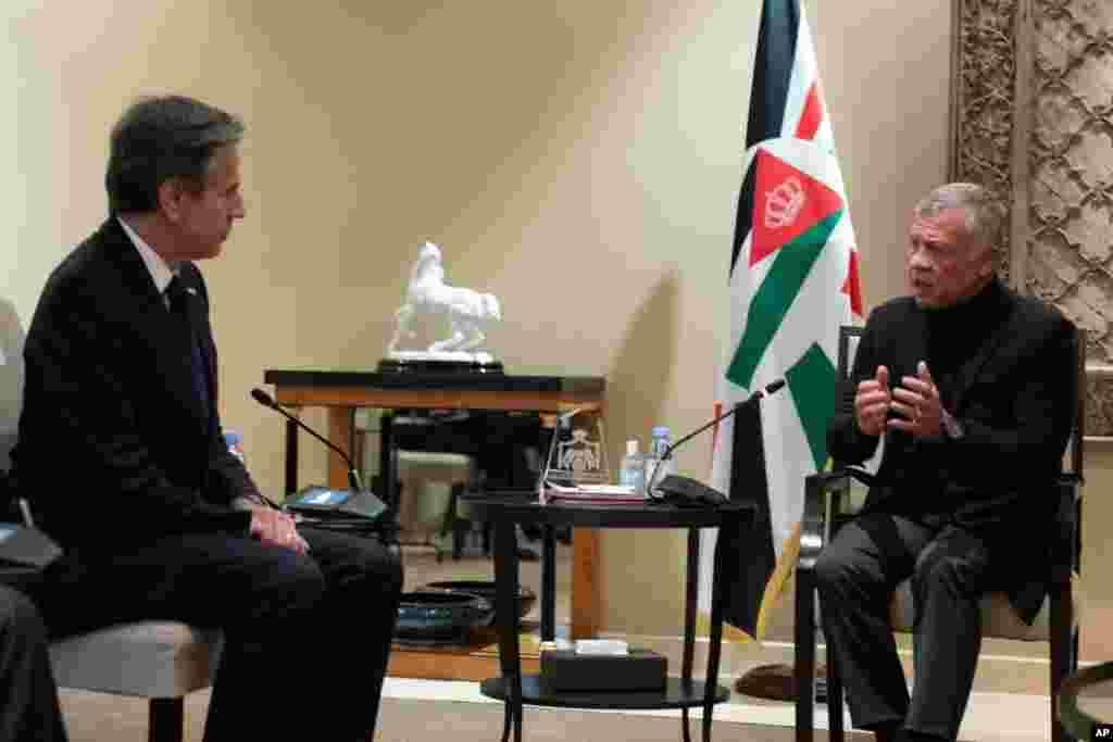 ABŞ Dövlət katibi Antoni Blinkenin İordaniya kralı II Abdullahla ilə Əmman görüşü