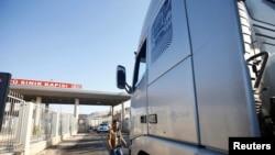 28 Kasım 2016 - Cilvegöz Sınır Kapısı'ndan Suriye'ye insani yardım taşıyan araçlar