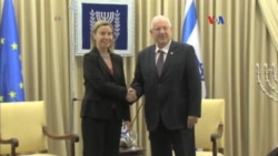 Mogherini incita dialogos entre Israel y palestinos