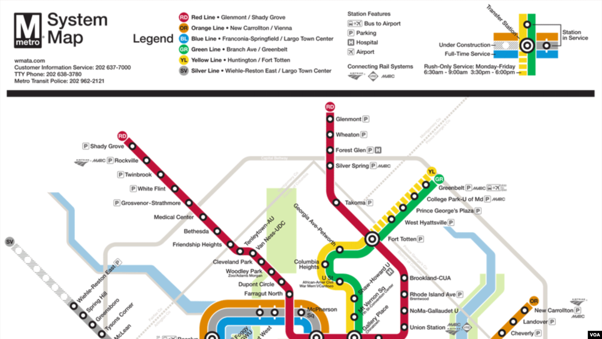 Dc Metro Map Yellow Line.Have Metro Will Travel A Student S Guide To D C