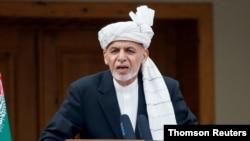 اشرف غنی، رئیس جمهوری افغانستان، در مراسم تحلیف ریاست جمهوری، در کابل.