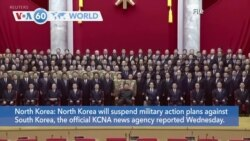 VOA60 World - North Korea will suspend military action plans against South Korea
