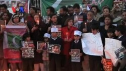 مراسم یادبود قربانیان مدرسه ای در پیشاور