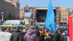 Ukrainians Stage Mass Unity Rally in Kyiv