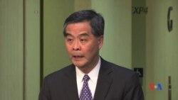 2016-12-09 美國之音視頻新聞: 梁振英宣佈不會競選連任